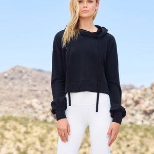 New ALO Yoga Social Long Sleeve Top Hoodie XS